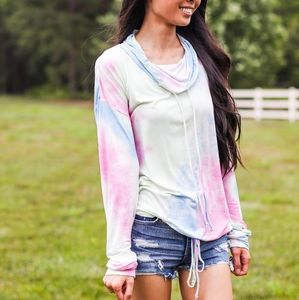 Cotton Candy Tie Dye Pullover